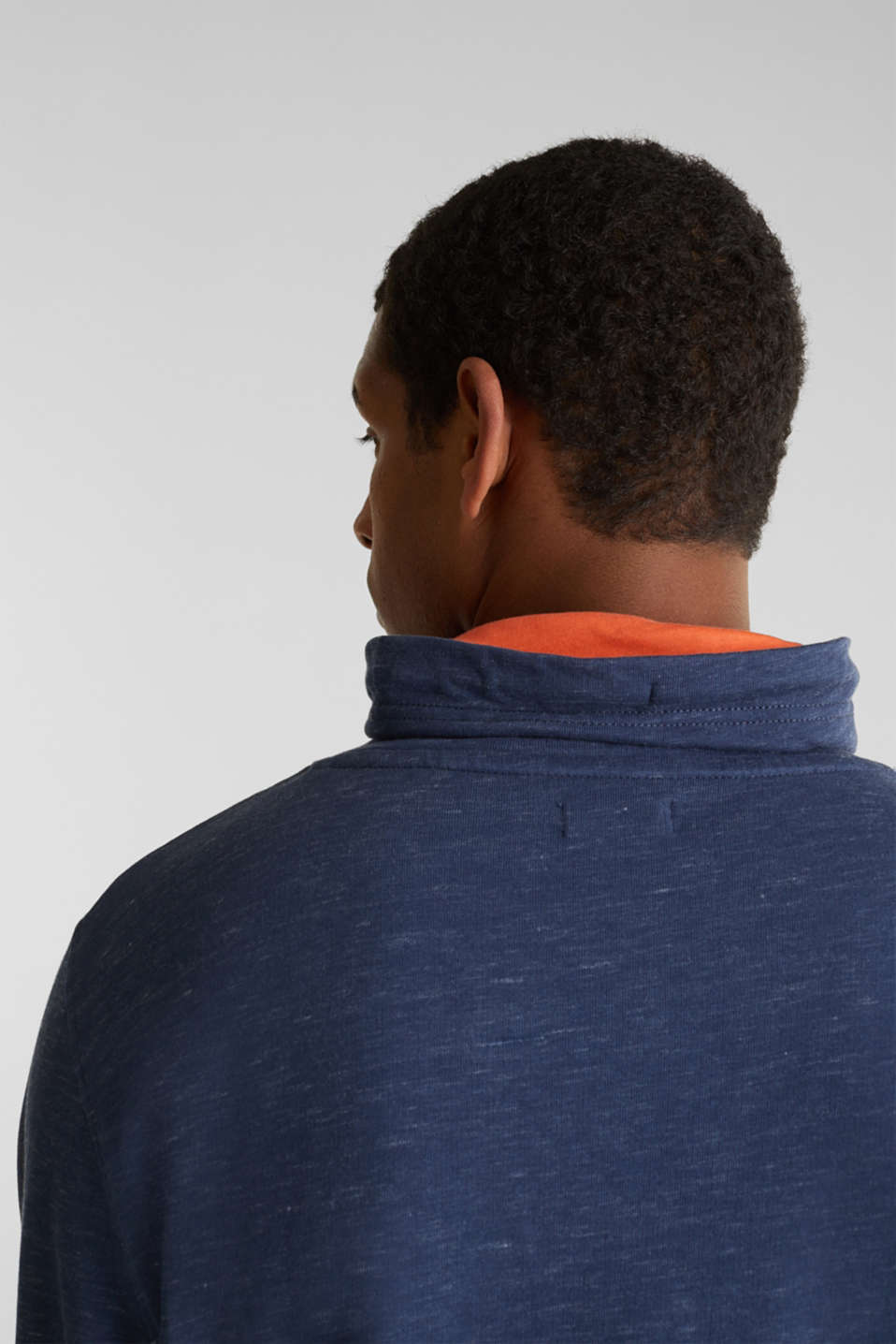 Sweatshirt with a two-tone drawstring collar, NAVY 5, detail image number 5