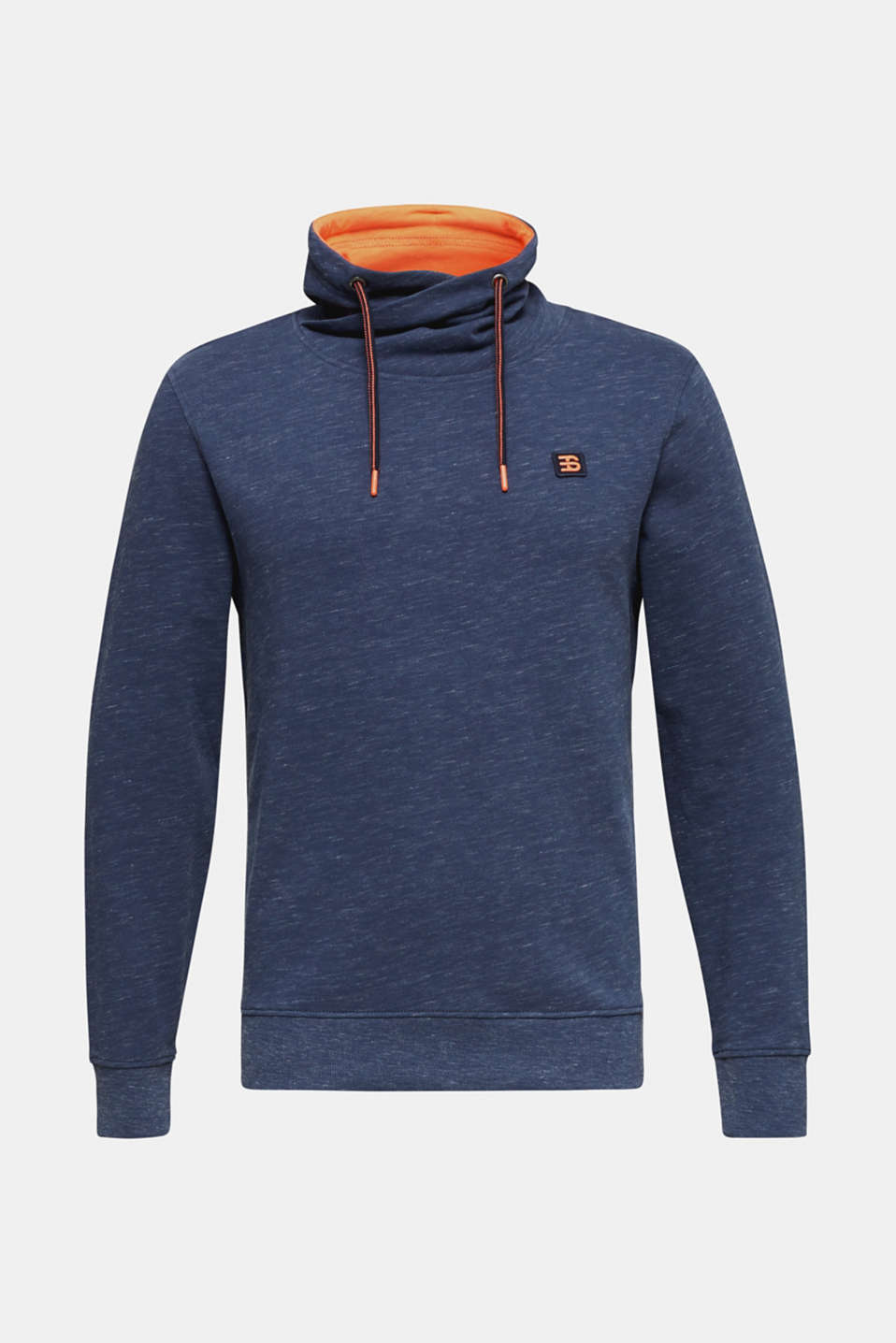 Sweatshirt with a two-tone drawstring collar, NAVY 5, detail image number 6