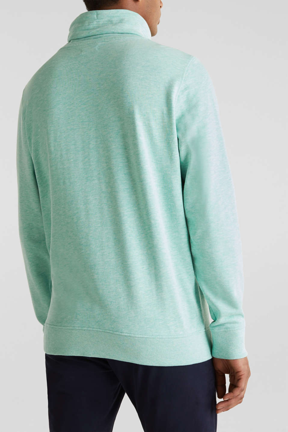 Sweatshirt with a two-tone drawstring collar, LIGHT TURQUOISE 5, detail image number 3