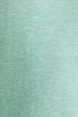 Sweatshirt with a two-tone drawstring collar, LIGHT TURQUOISE 5, detail