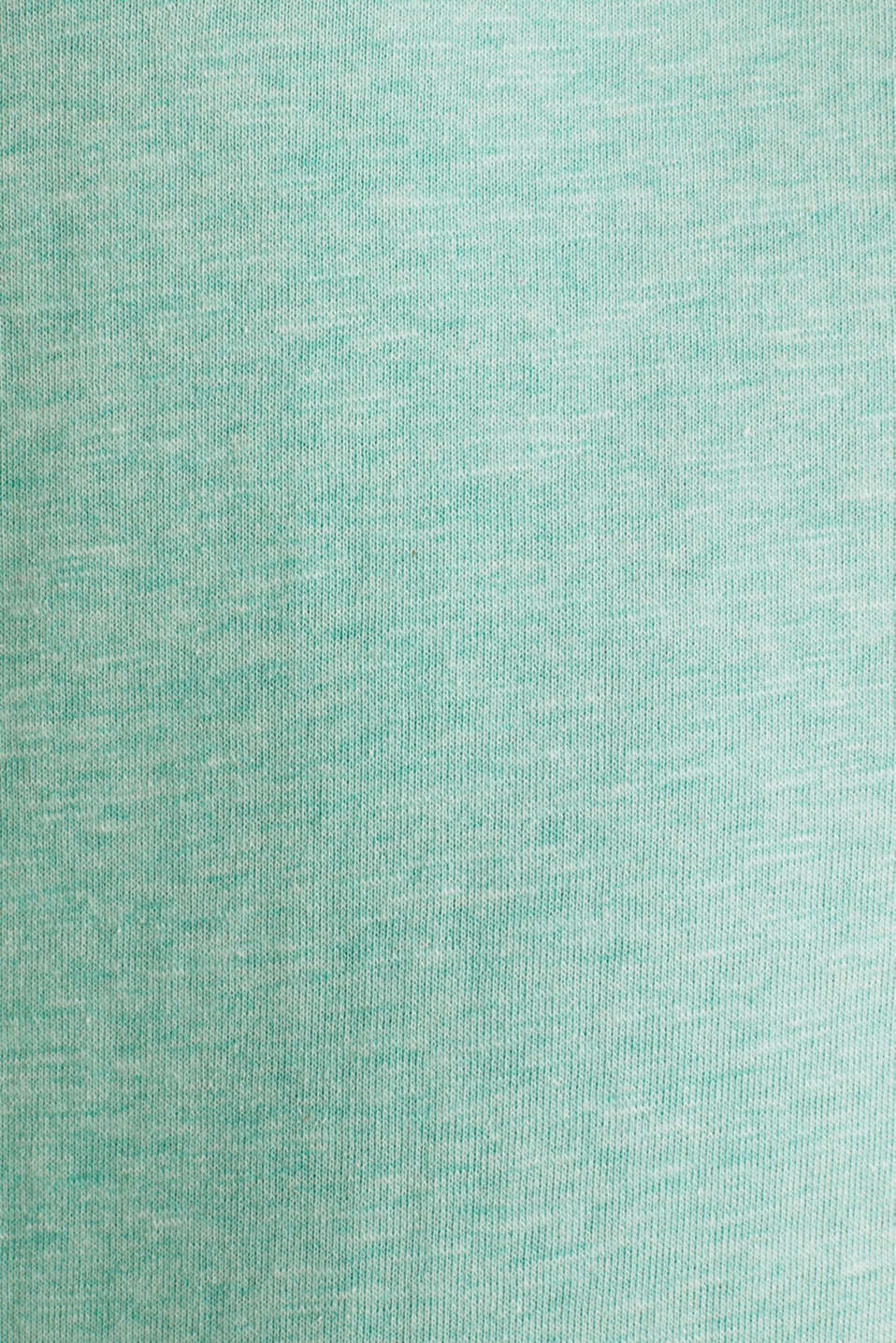 Sweatshirt with a two-tone drawstring collar, LIGHT TURQUOISE 5, detail image number 4