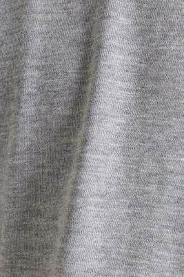 Jersey T-shirt with a Henley neckline, MEDIUM GREY 5, detail