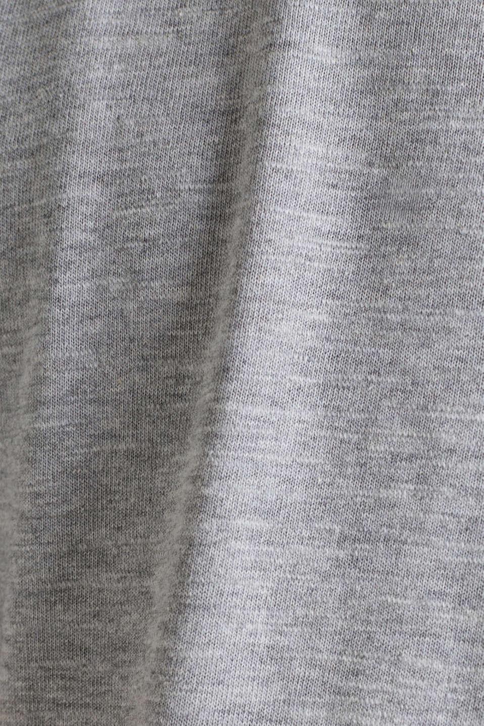 Jersey T-shirt with a Henley neckline, MEDIUM GREY 5, detail image number 4