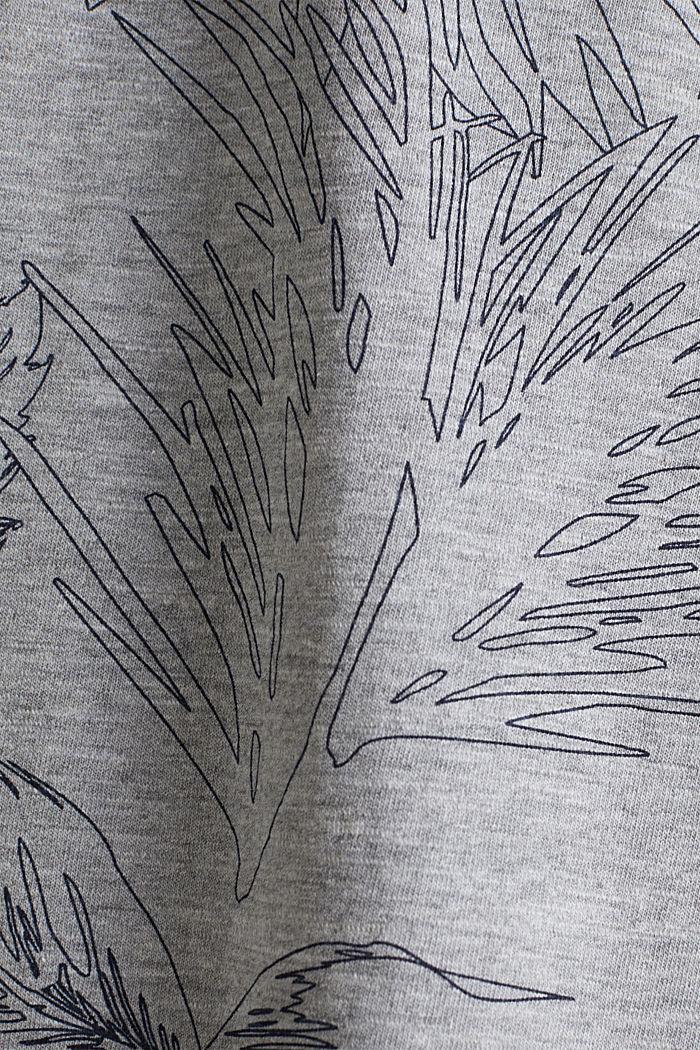 Jersey-Shirt mit Print, MEDIUM GREY, detail image number 1