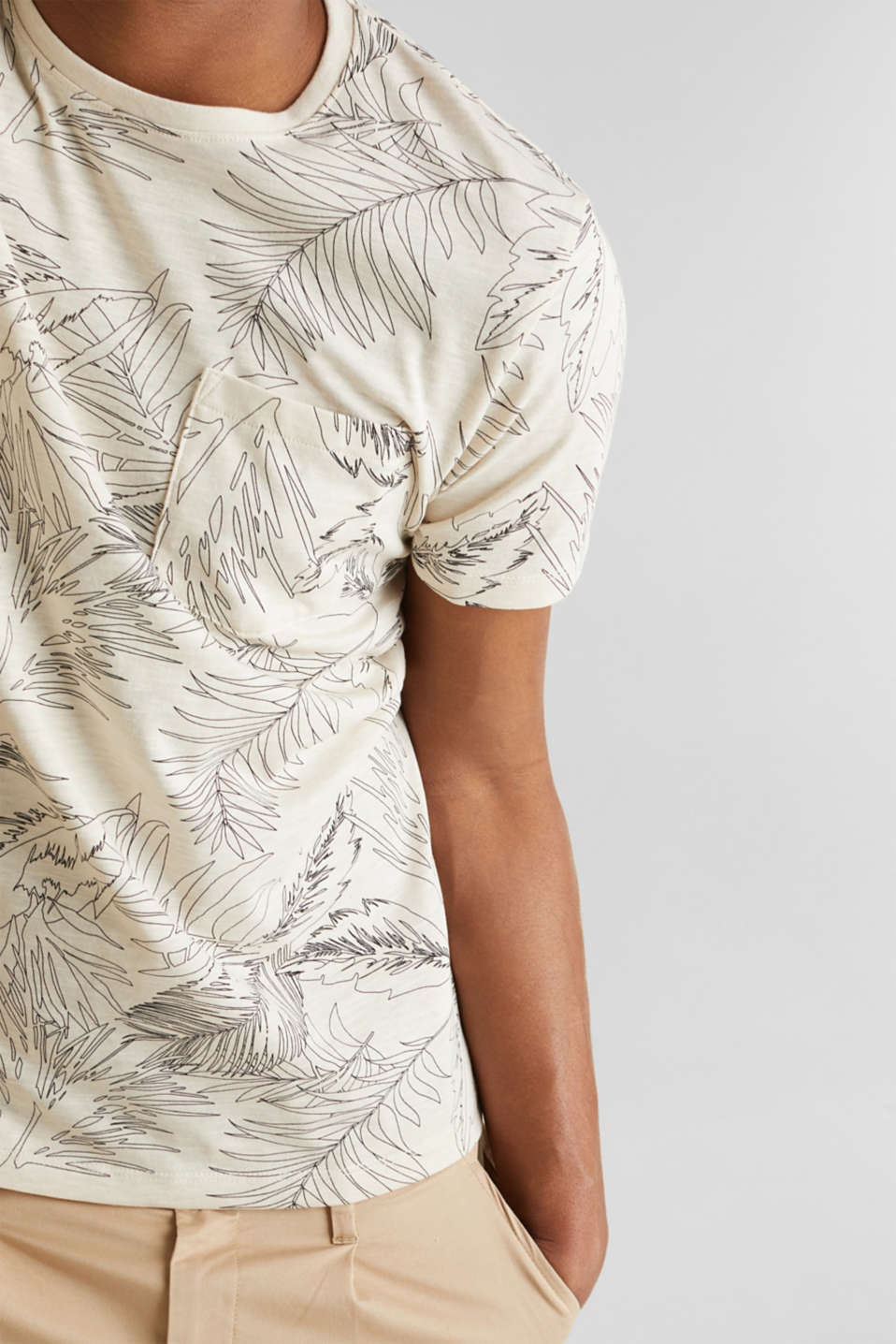 Printed jersey T-shirt, OFF WHITE 4, detail image number 1