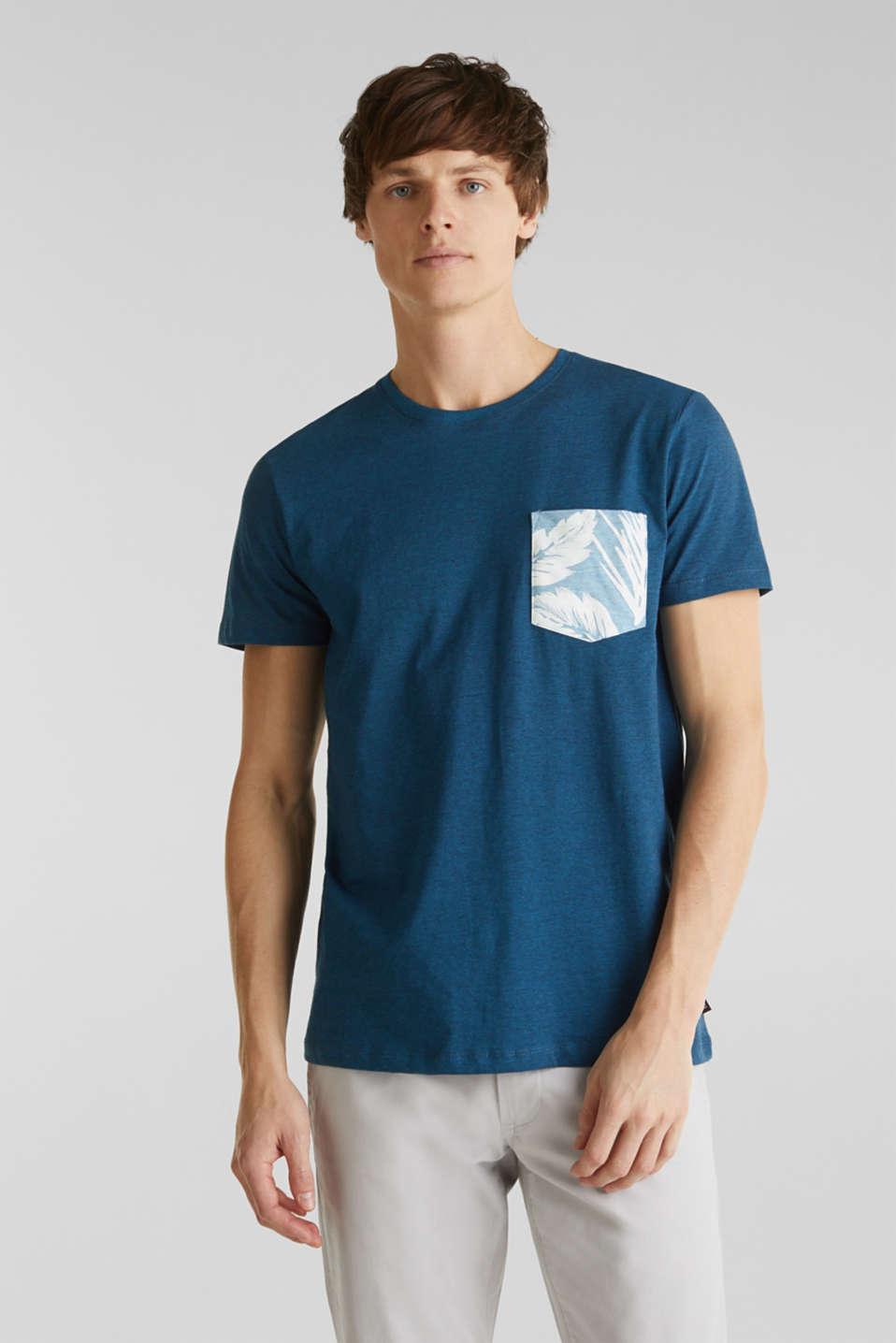 Jersey top, 100% organic cotton, PETROL BLUE 3, detail image number 0