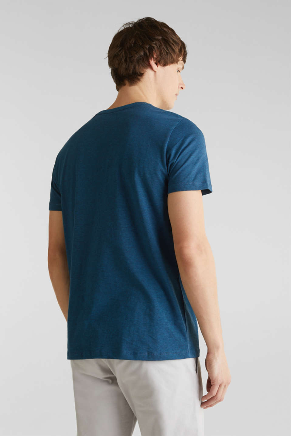 Jersey top, 100% organic cotton, PETROL BLUE 3, detail image number 3