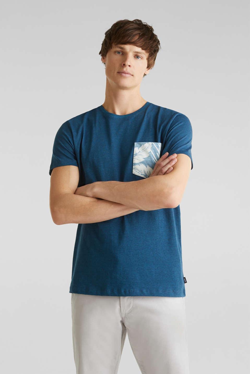 Jersey top, 100% organic cotton, PETROL BLUE 3, detail image number 4