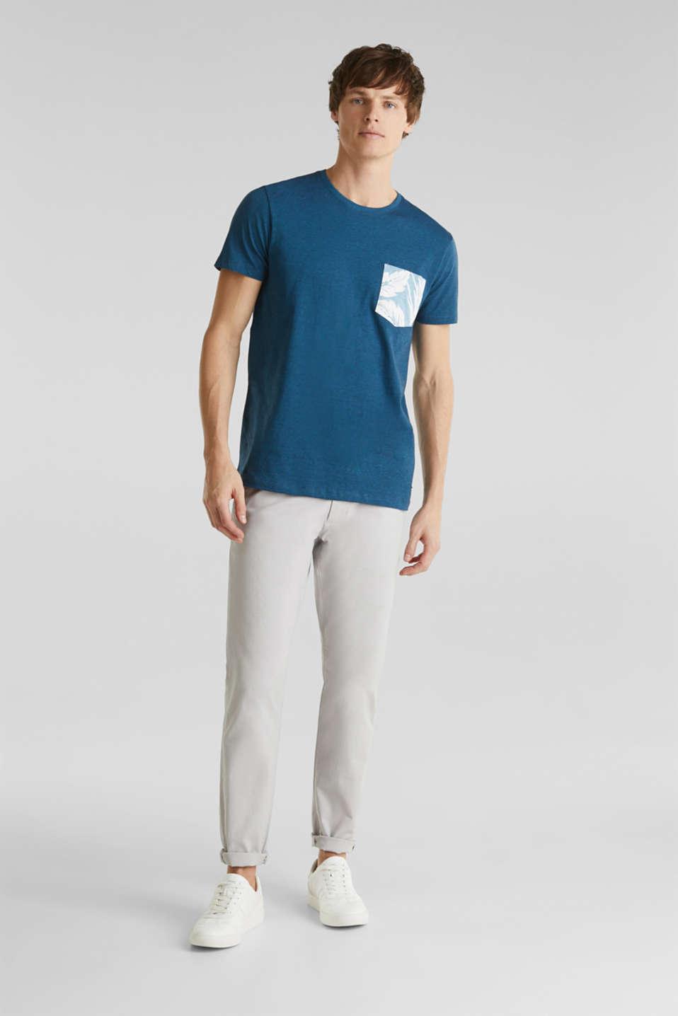 Jersey top, 100% organic cotton, PETROL BLUE 3, detail image number 2