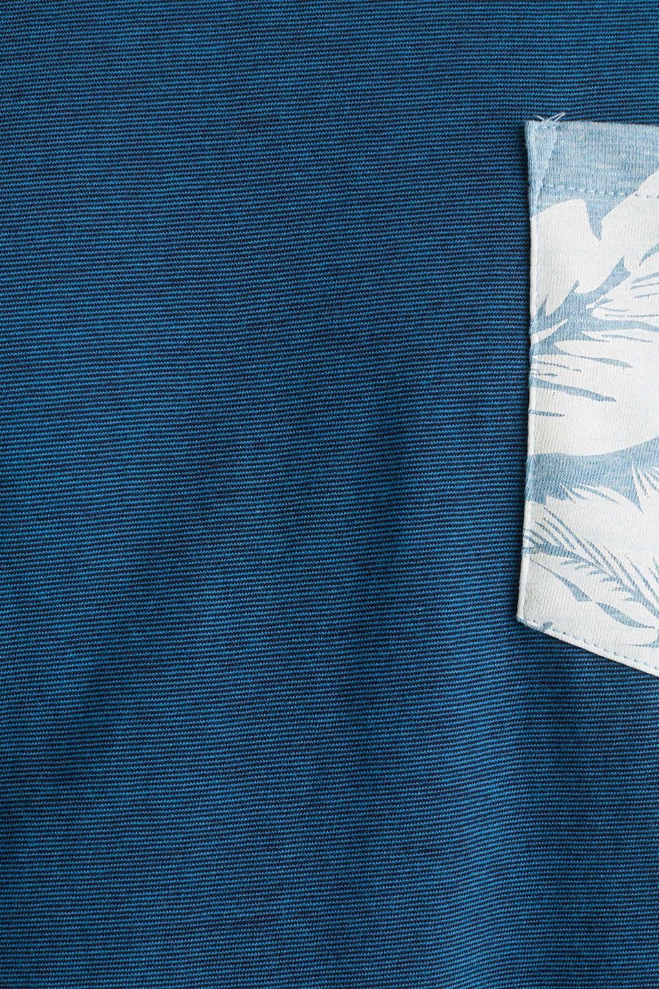 Jersey top, 100% organic cotton, PETROL BLUE 3, detail image number 5
