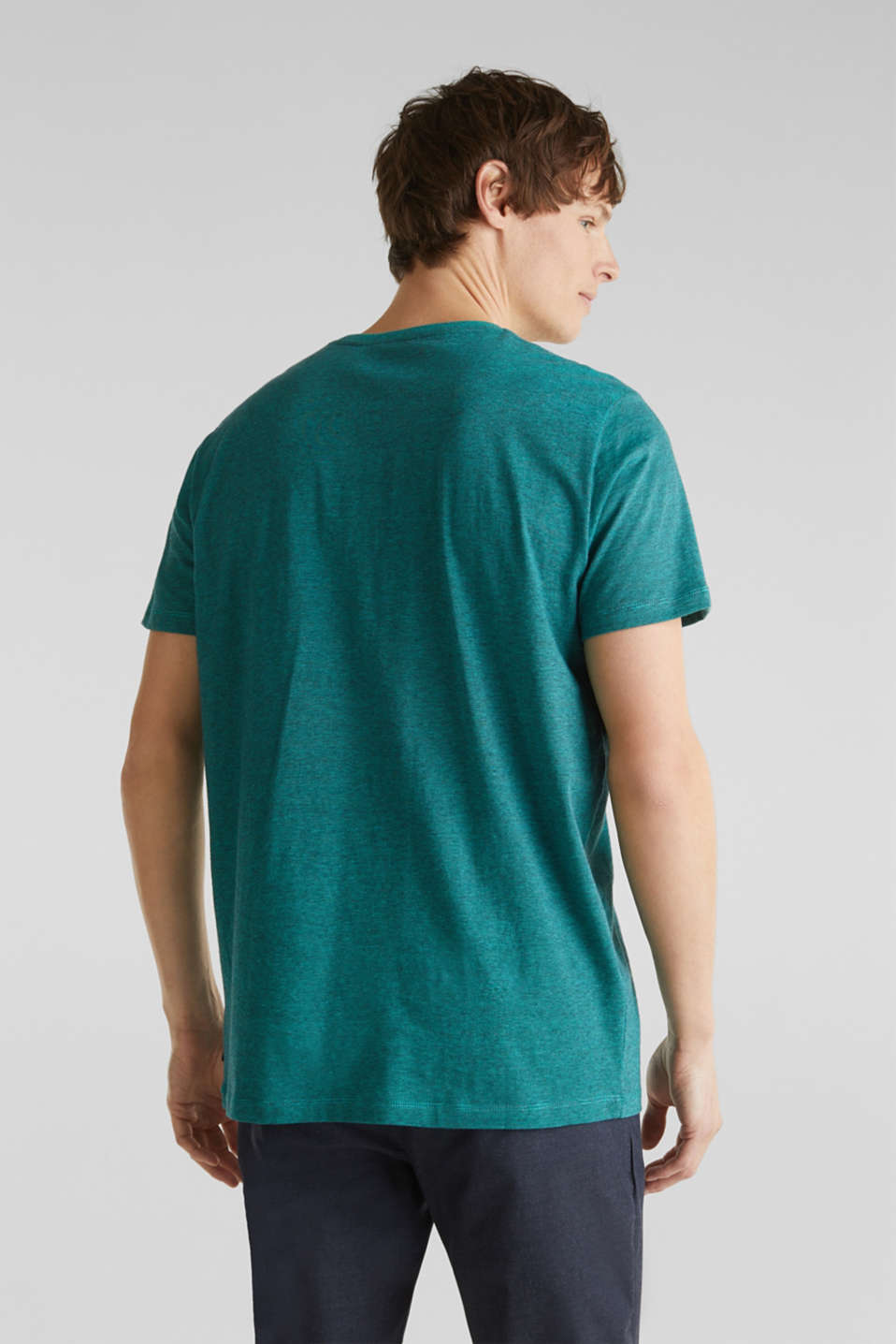 Jersey top, 100% organic cotton, LIGHT TURQUOISE 3, detail image number 2