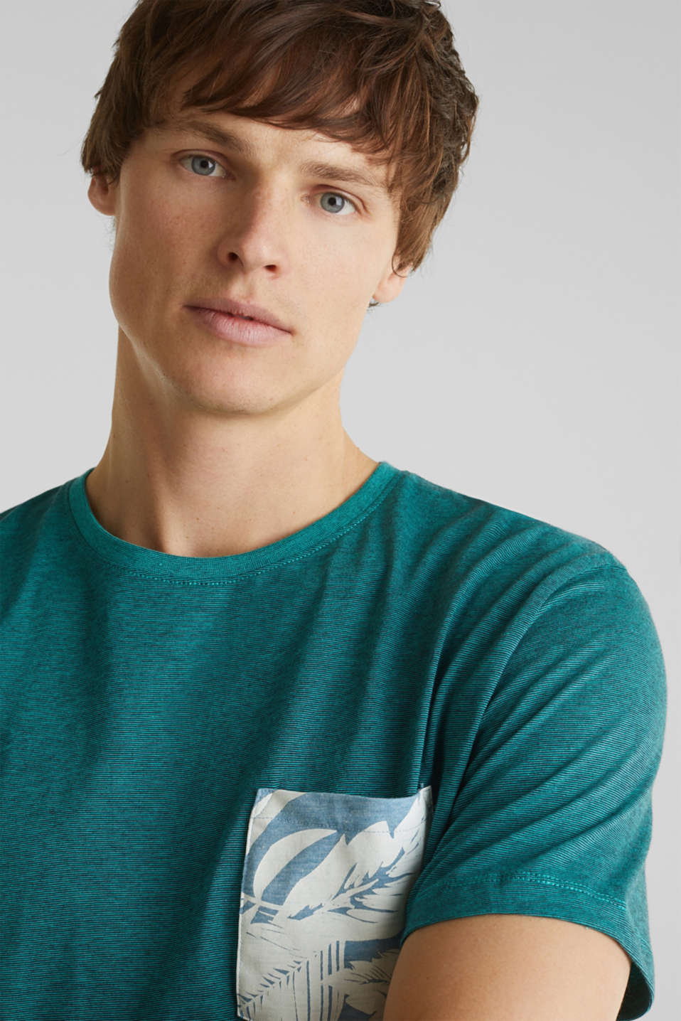 Jersey top, 100% organic cotton, LIGHT TURQUOISE 3, detail image number 5