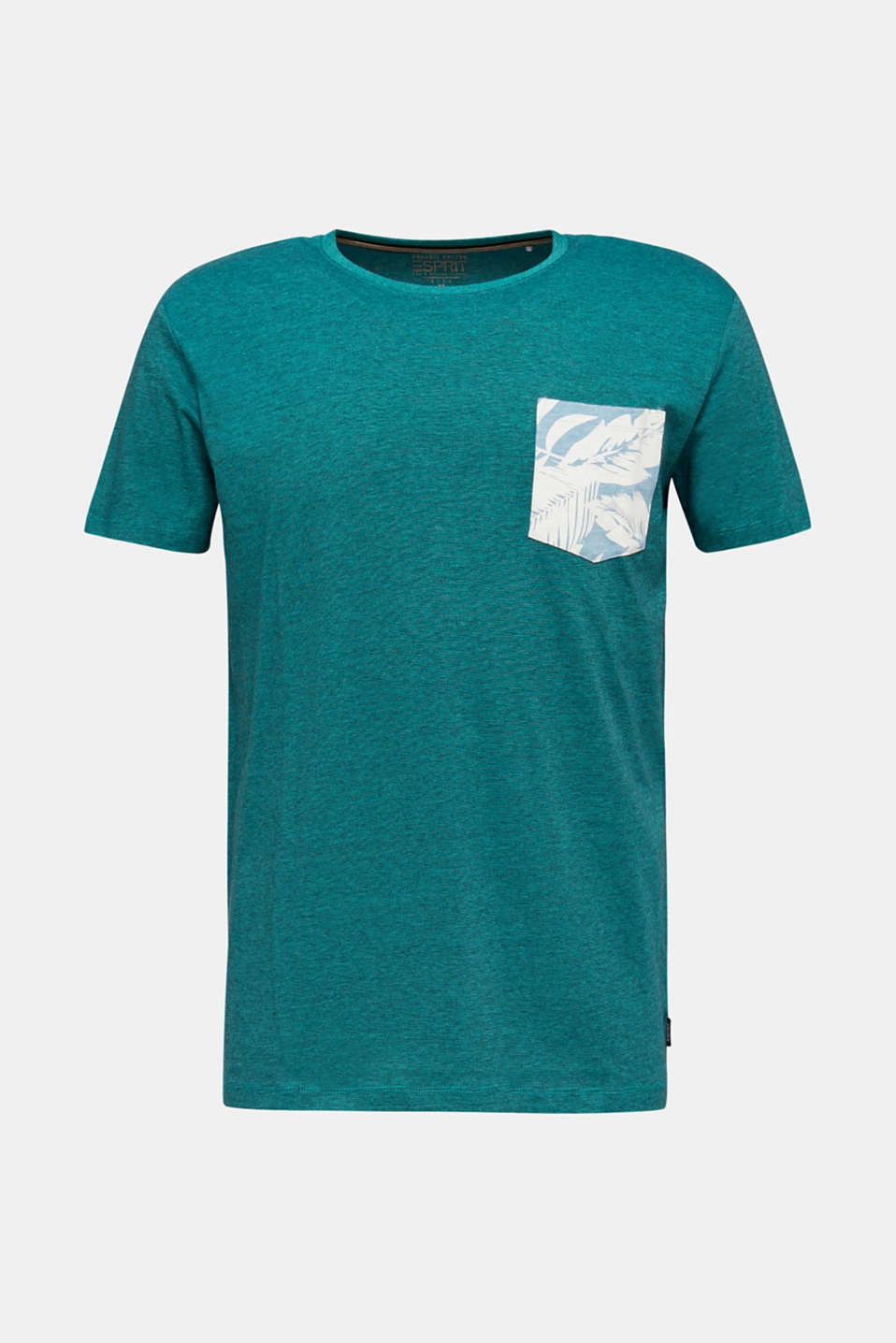 Jersey top, 100% organic cotton, LIGHT TURQUOISE 3, detail image number 7