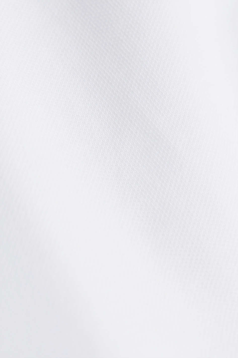 Piqué polo shirt with a stand-up collar, WHITE, detail image number 5