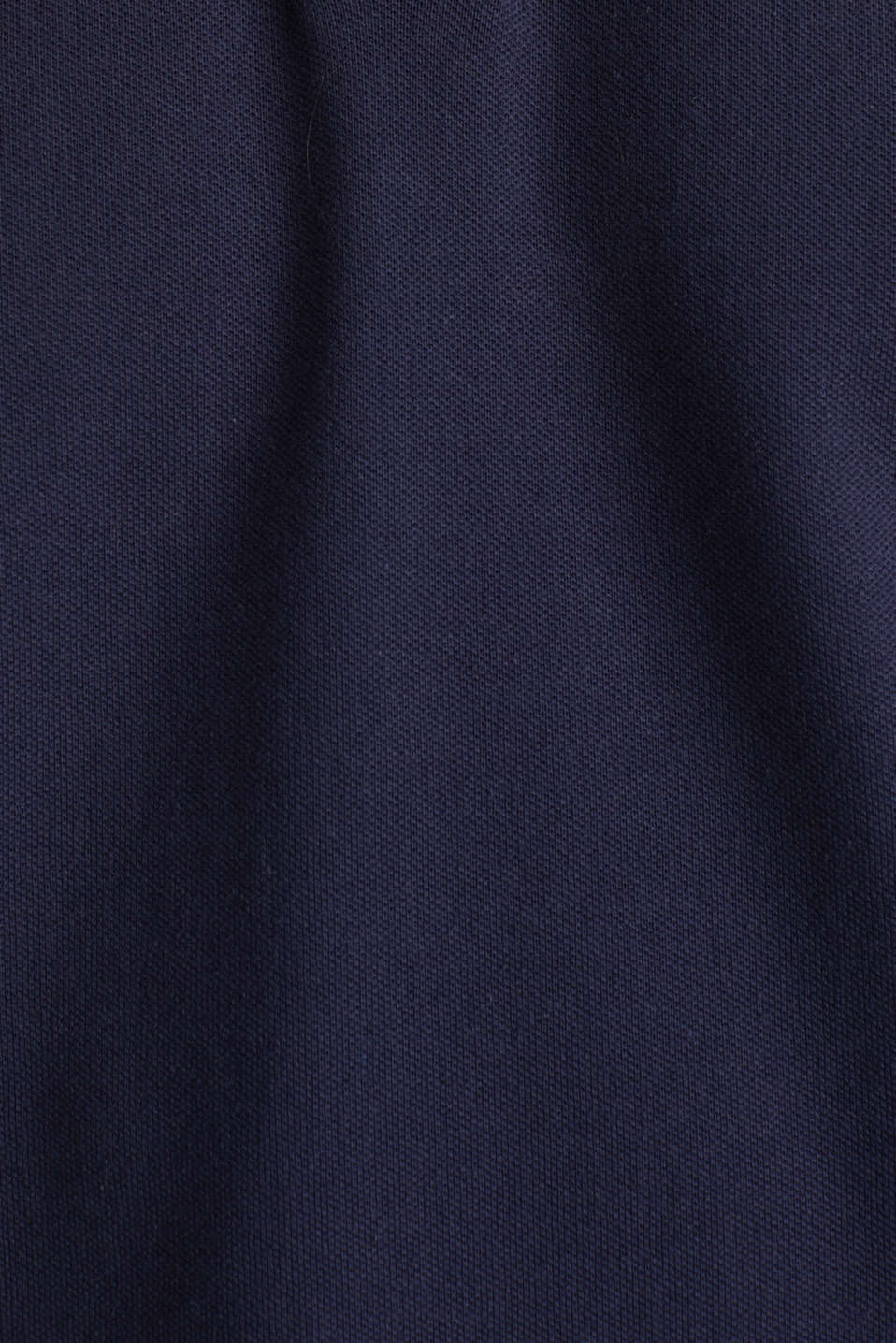 Piqué polo shirt with a stand-up collar, NAVY, detail image number 4
