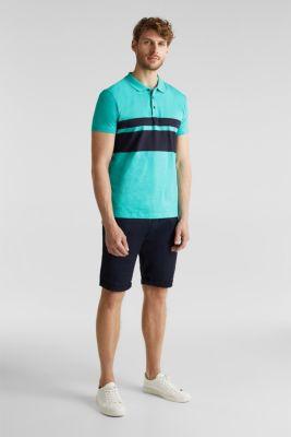 Jersey polo shirt, organic cotton, LIGHT TURQUOISE 3, detail