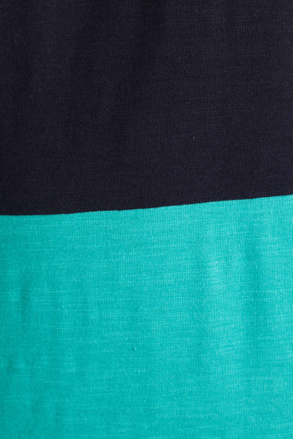 Slub polo shirt with stripes, 100% organic cotton, LIGHT TURQUOISE 3, detail image number 4