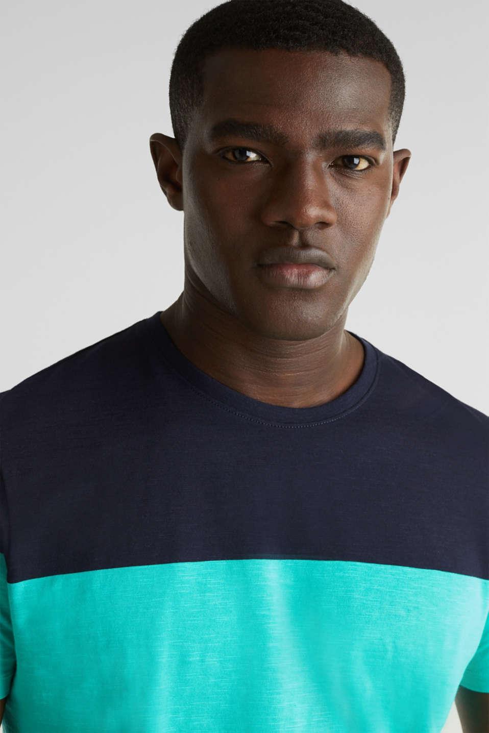 Slub jersey T-shirt in 100% cotton, LIGHT TURQUOISE 3, detail image number 1