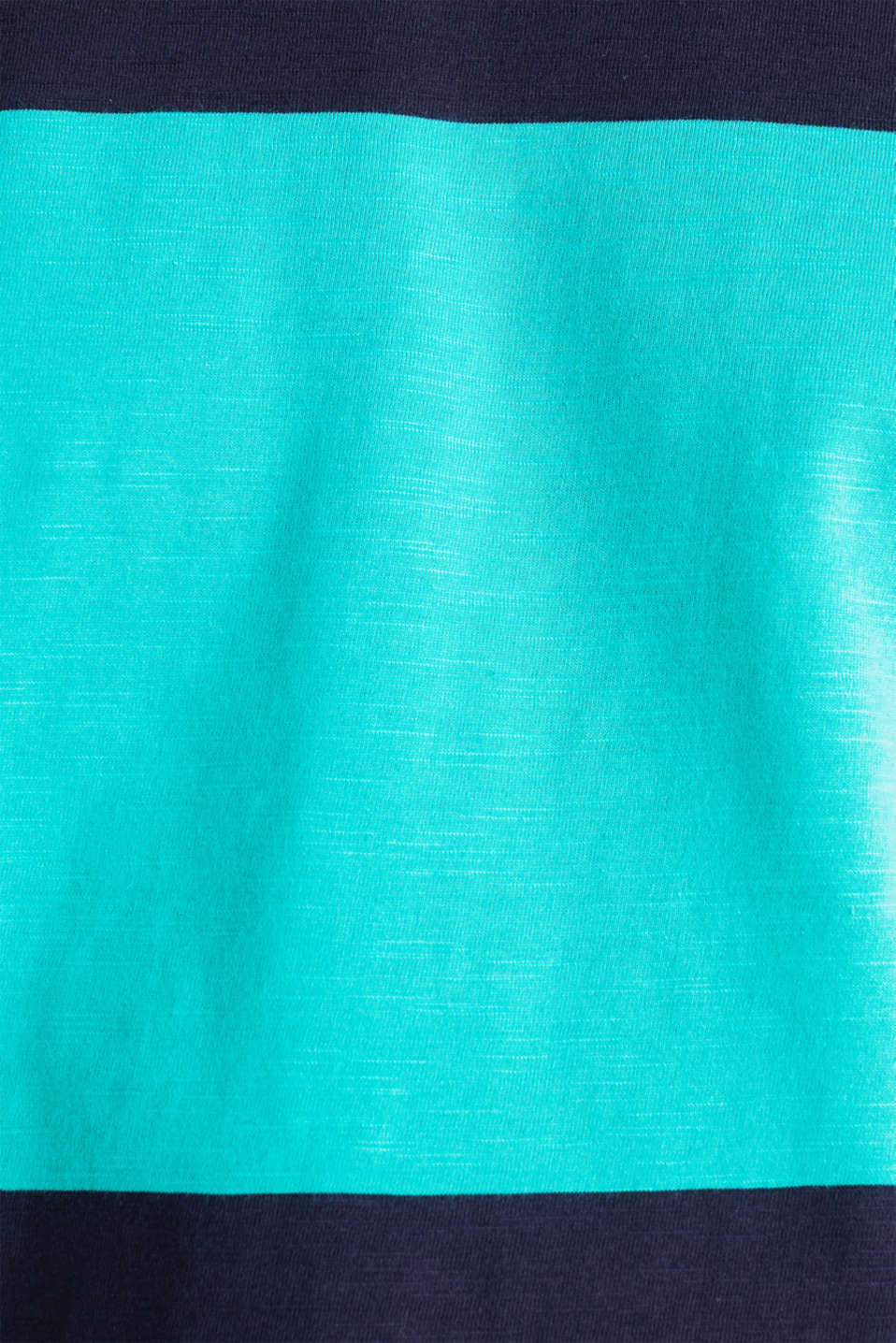 Slub jersey T-shirt in 100% cotton, LIGHT TURQUOISE 3, detail image number 4