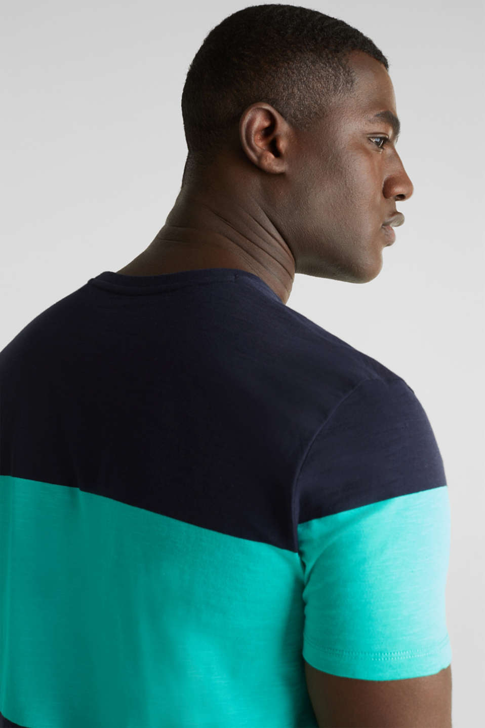 Slub jersey T-shirt in 100% cotton, LIGHT TURQUOISE 3, detail image number 5