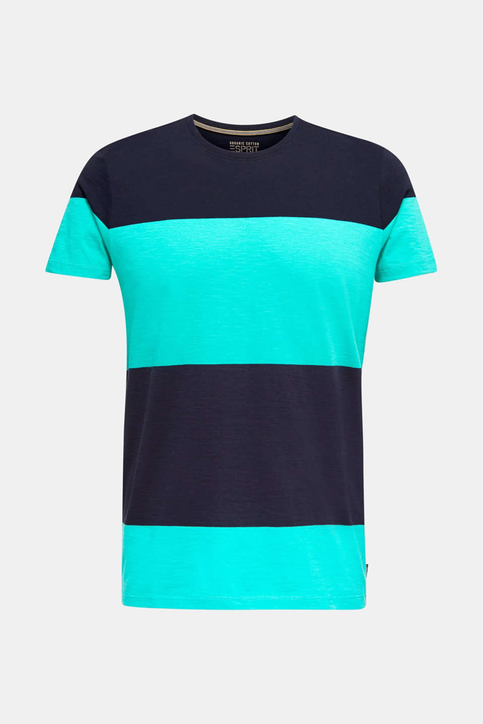 Slub jersey T-shirt in 100% cotton, LIGHT TURQUOISE 3, detail image number 6