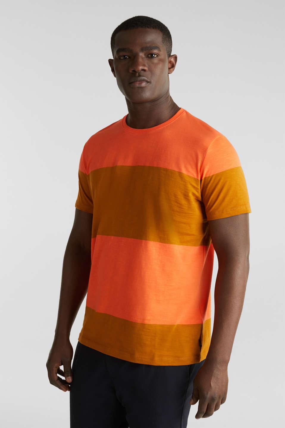 Slub jersey T-shirt in 100% cotton, RUST ORANGE 3, detail image number 0