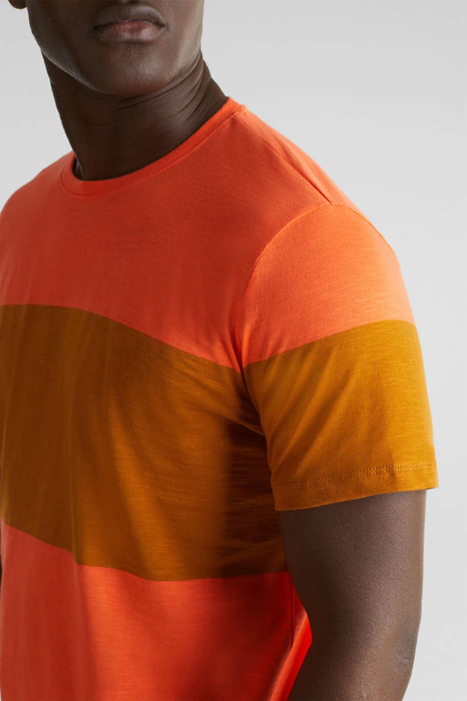 Slub jersey T-shirt in 100% cotton, RUST ORANGE 3, detail image number 1