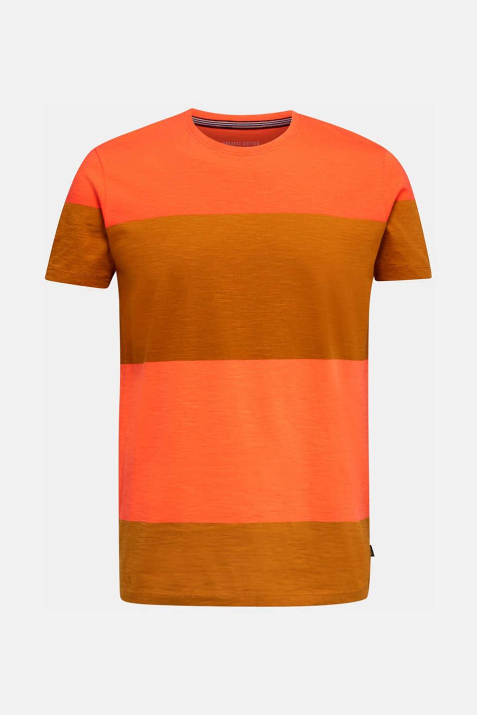 Slub jersey T-shirt in 100% cotton, RUST ORANGE 3, detail image number 5