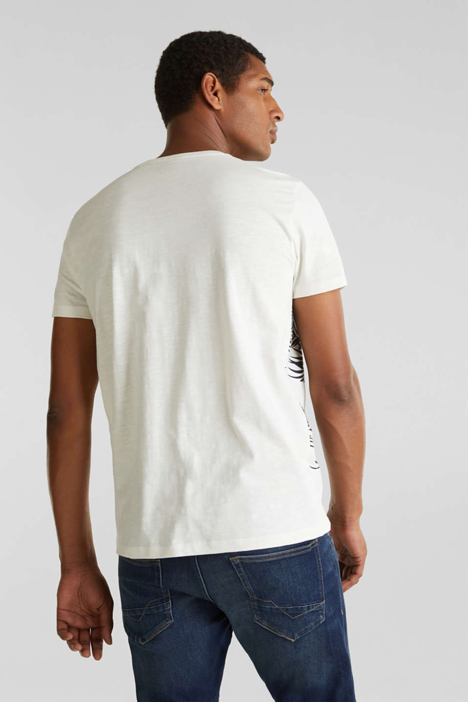 Printed jersey top with a pocket, 100% organic cotton, OFF WHITE 4, detail image number 3