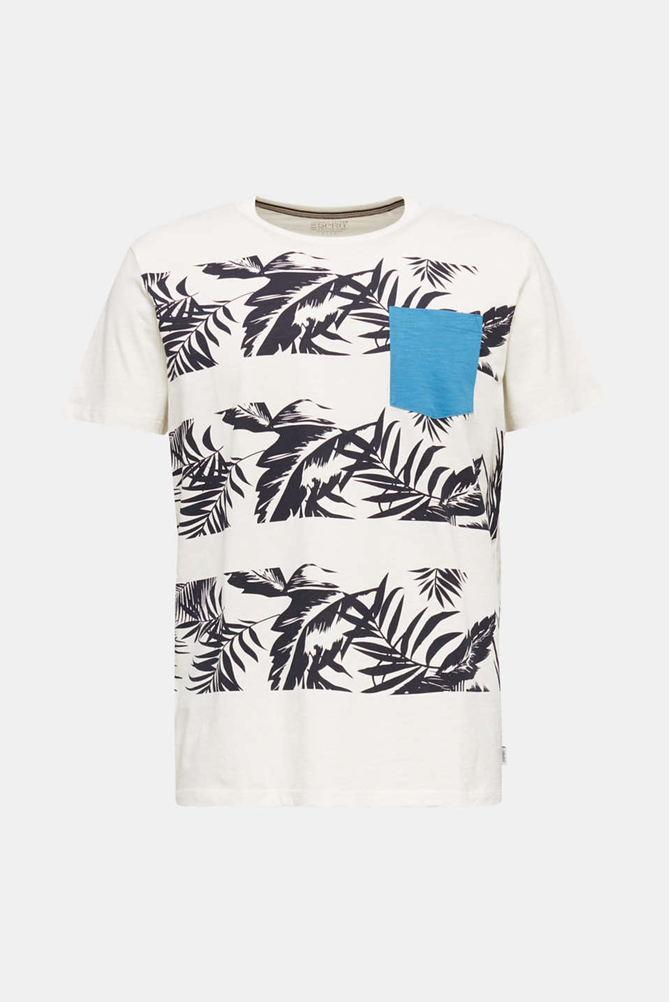 Printed jersey top with a pocket, 100% organic cotton, OFF WHITE 4, detail image number 7