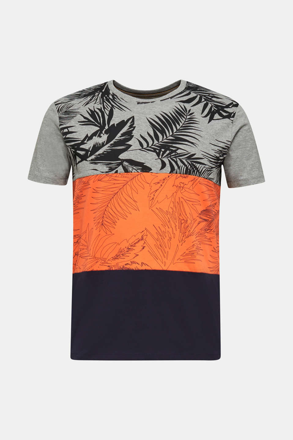 Jersey top with a colour block print, RUST ORANGE 3, detail image number 5