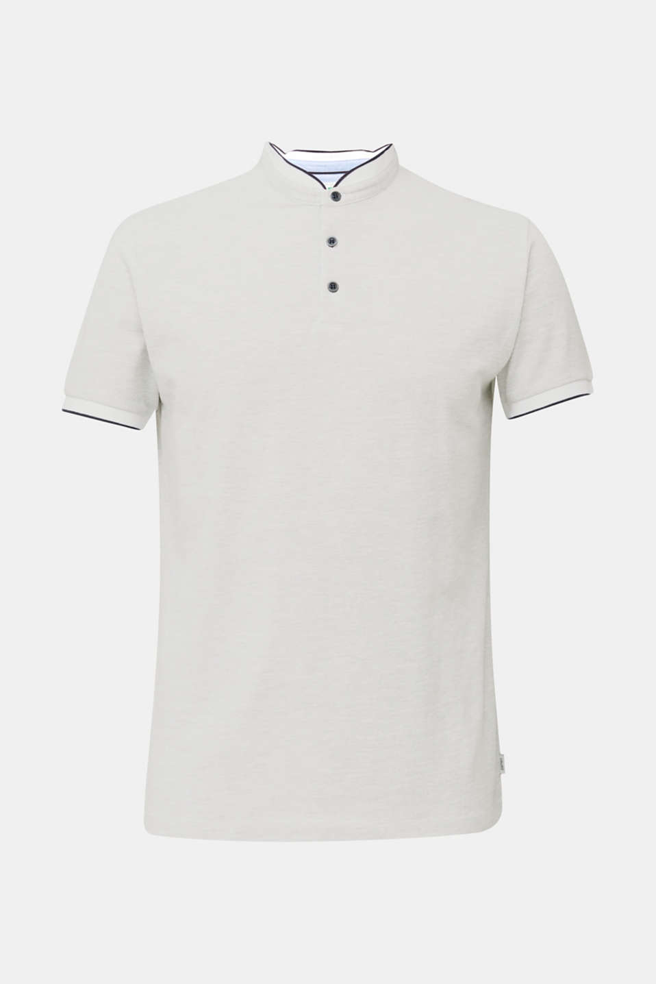 Piqué polo shirt with a stand-up collar, WHITE 2, detail image number 6