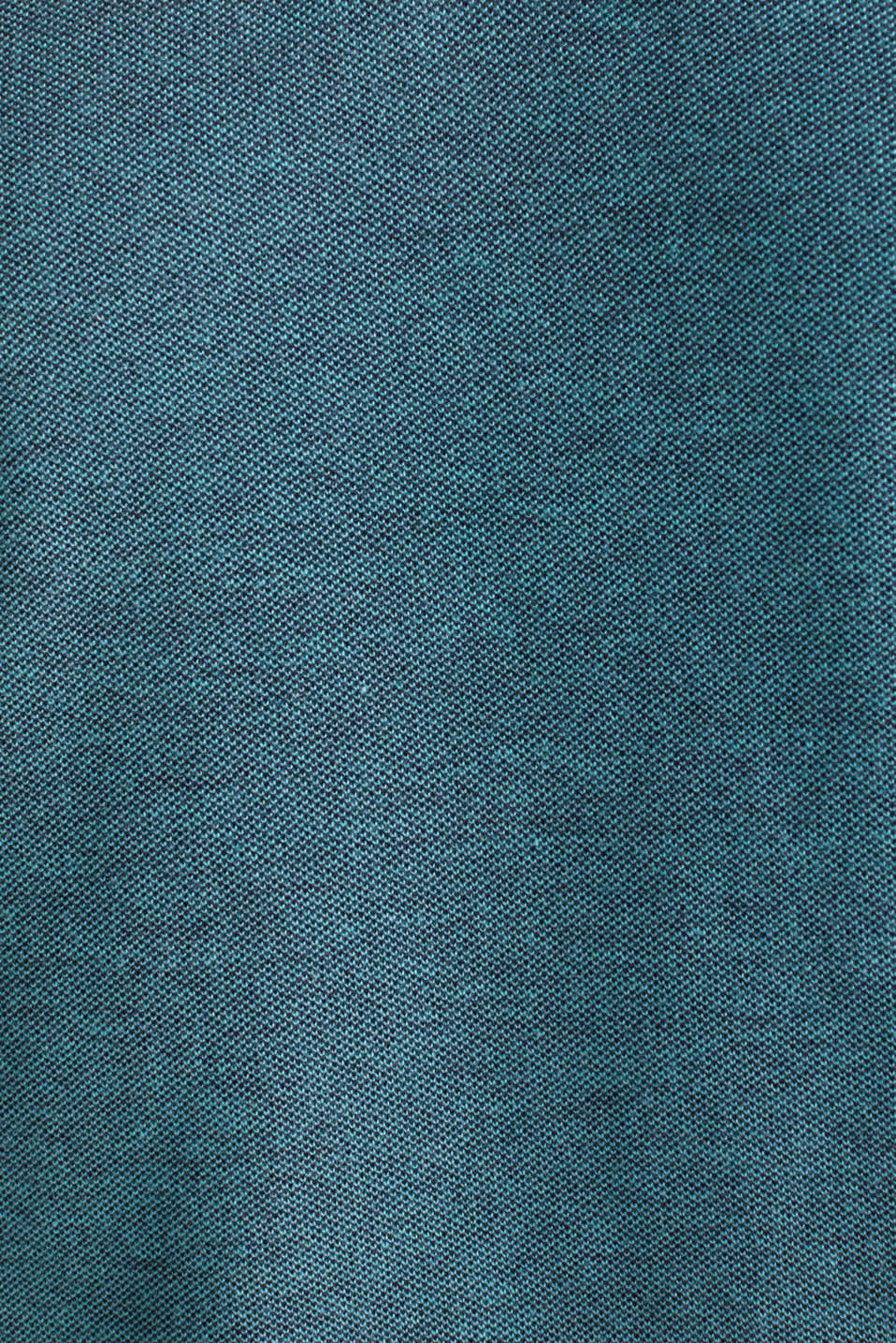 Piqué polo shirt with a stand-up collar, TEAL GREEN 2, detail image number 4
