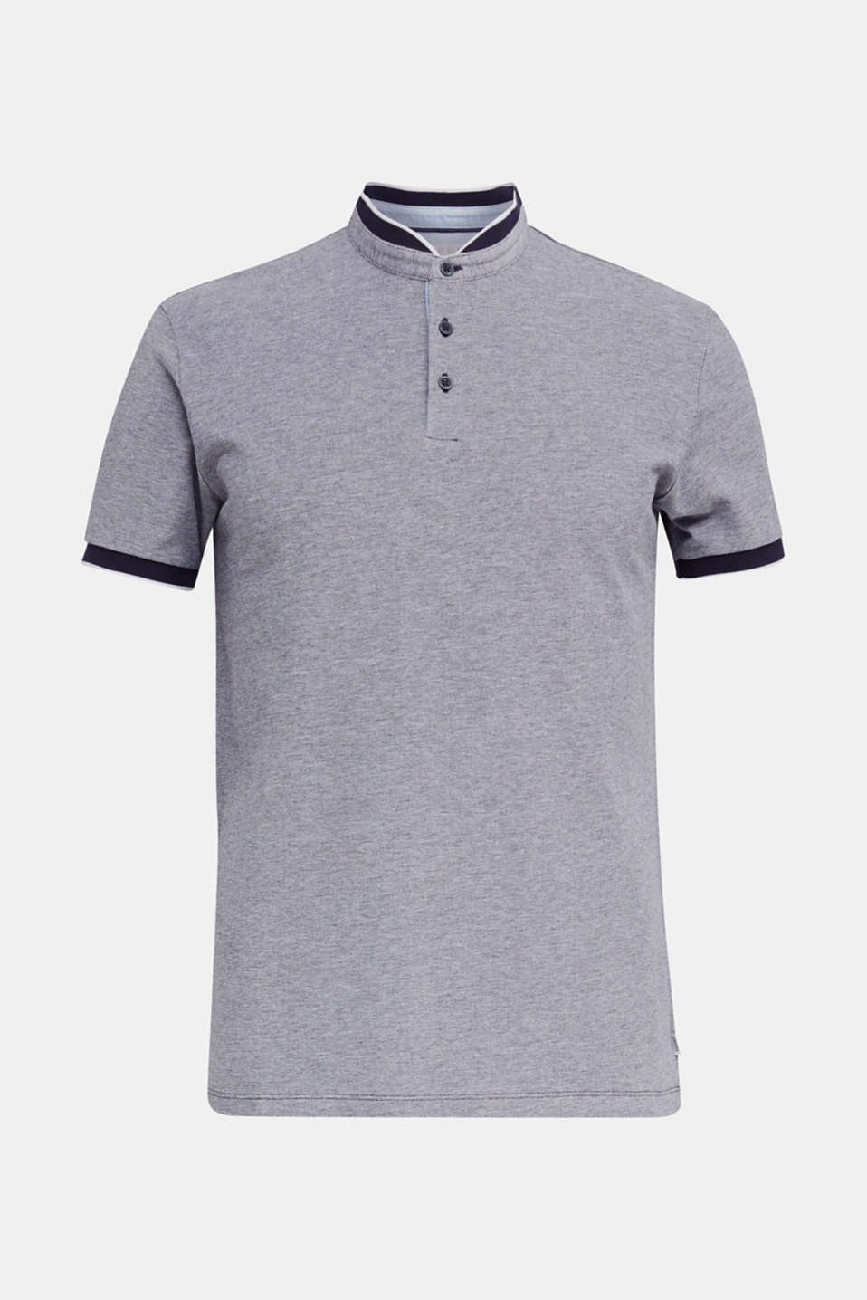 Piqué polo shirt with a stand-up collar, NAVY 2, detail image number 5