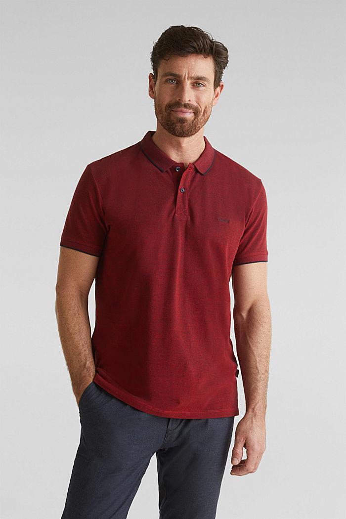 Piqué-Poloshirt, 100% Bio-Baumwolle, RED, detail image number 0