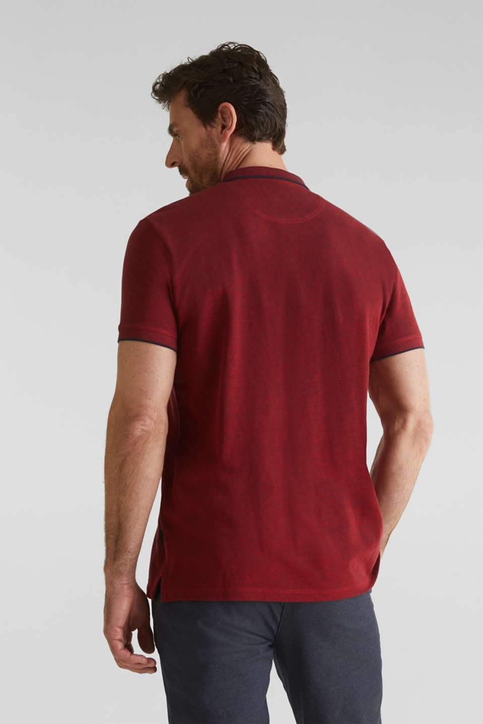 Piqué polo shirt, 100% organic cotton, RED, detail image number 3