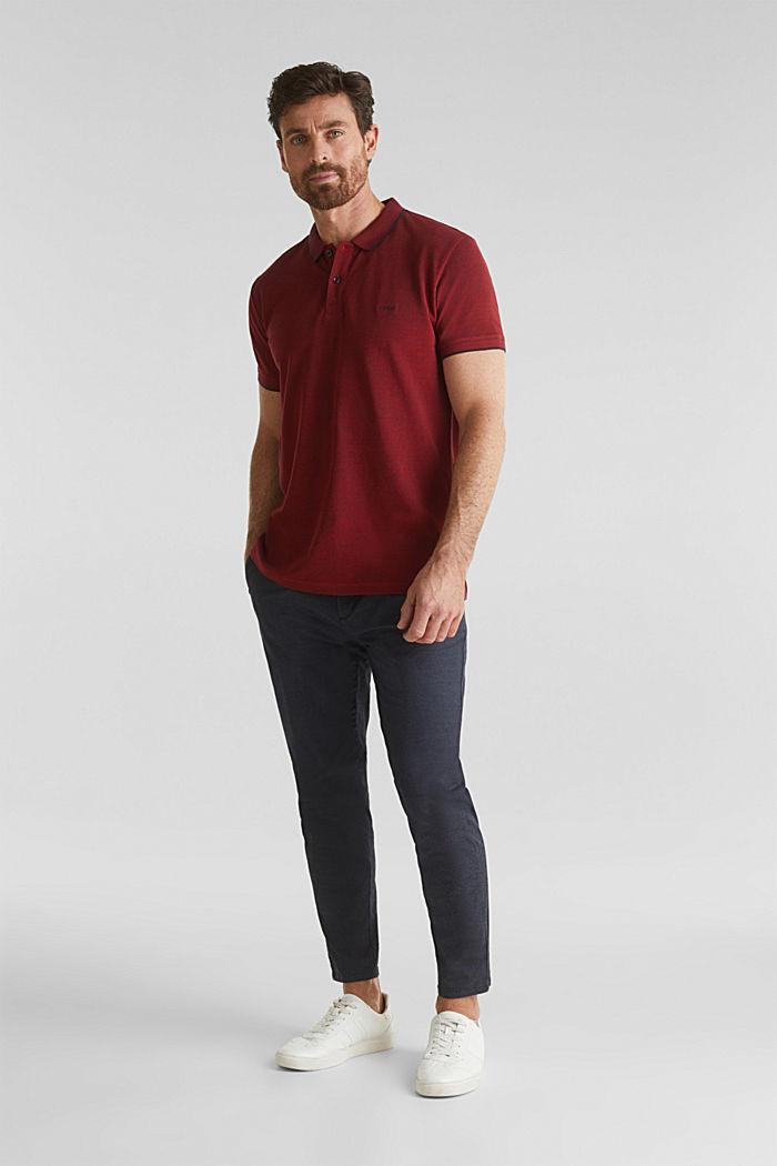 Piqué-Poloshirt, 100% Bio-Baumwolle, RED, detail image number 2