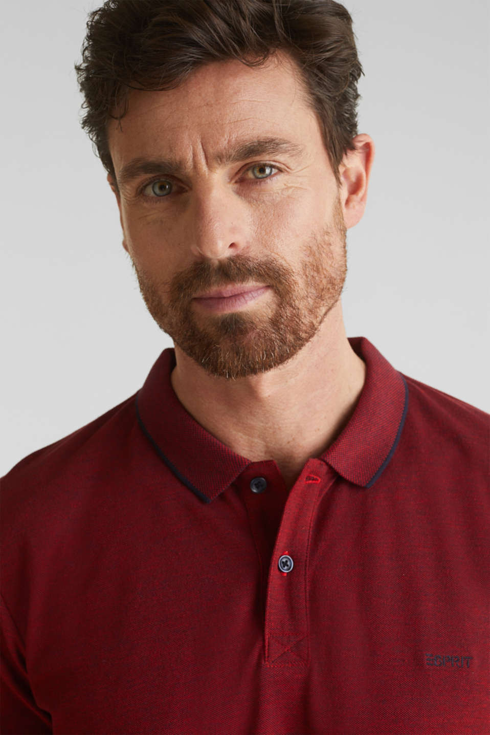 Piqué polo shirt, 100% organic cotton, RED, detail image number 1