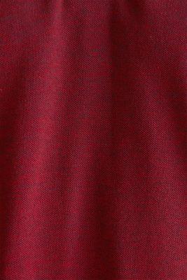 Piqué polo shirt, 100% organic cotton, RED, detail