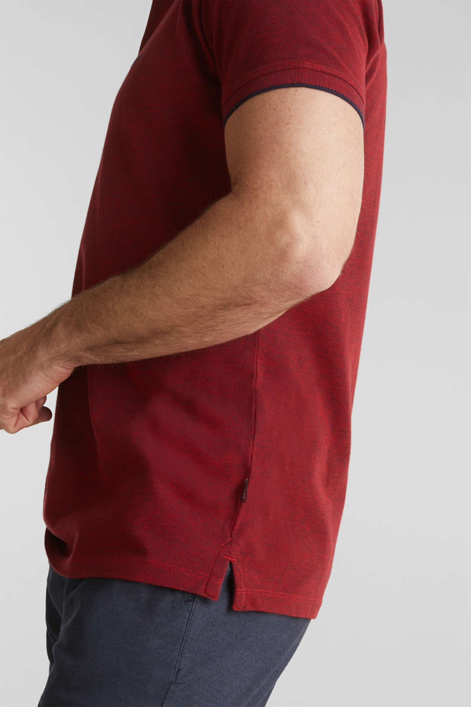 Piqué polo shirt, 100% organic cotton, RED, detail image number 5