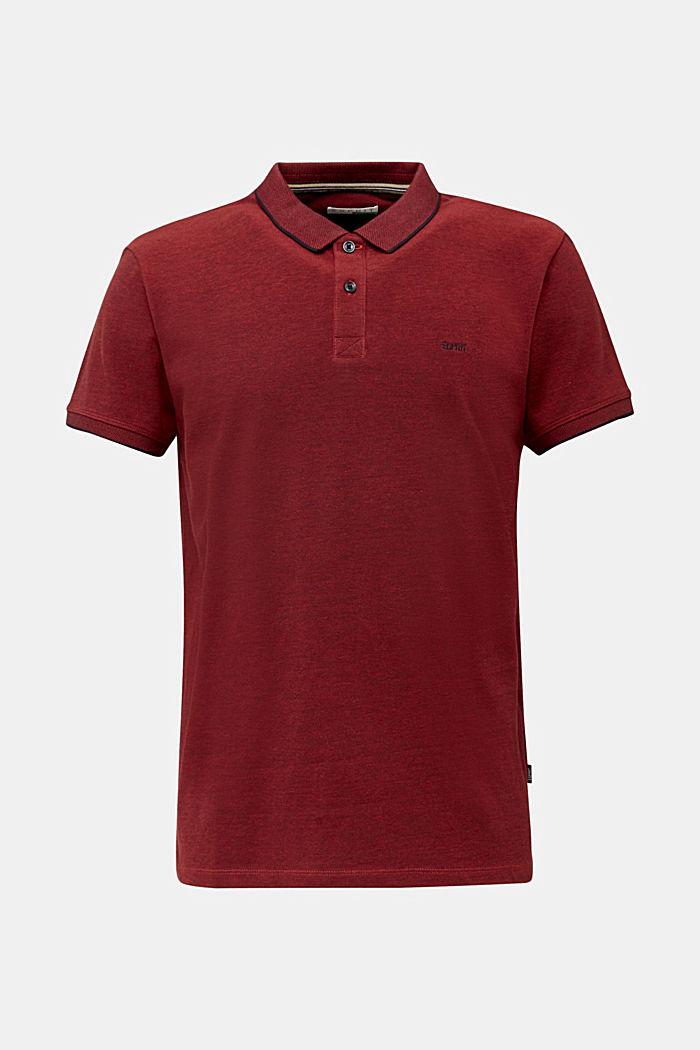 Piqué-Poloshirt, 100% Bio-Baumwolle, RED, detail image number 6