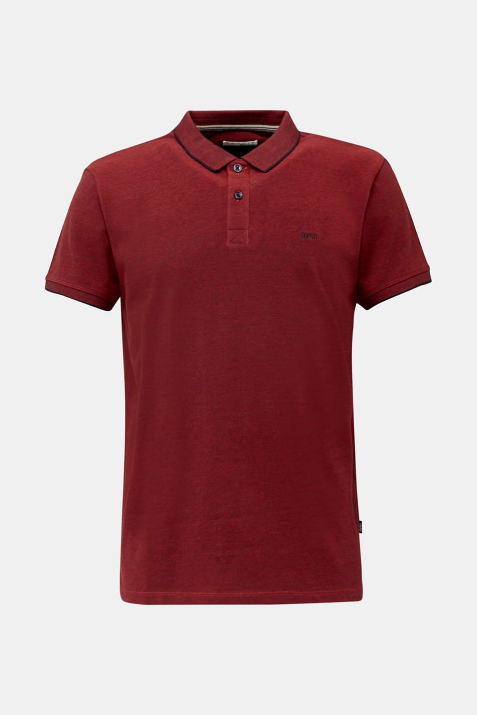 Piqué polo shirt made of 100% organic cotton, RED, detail image number 6