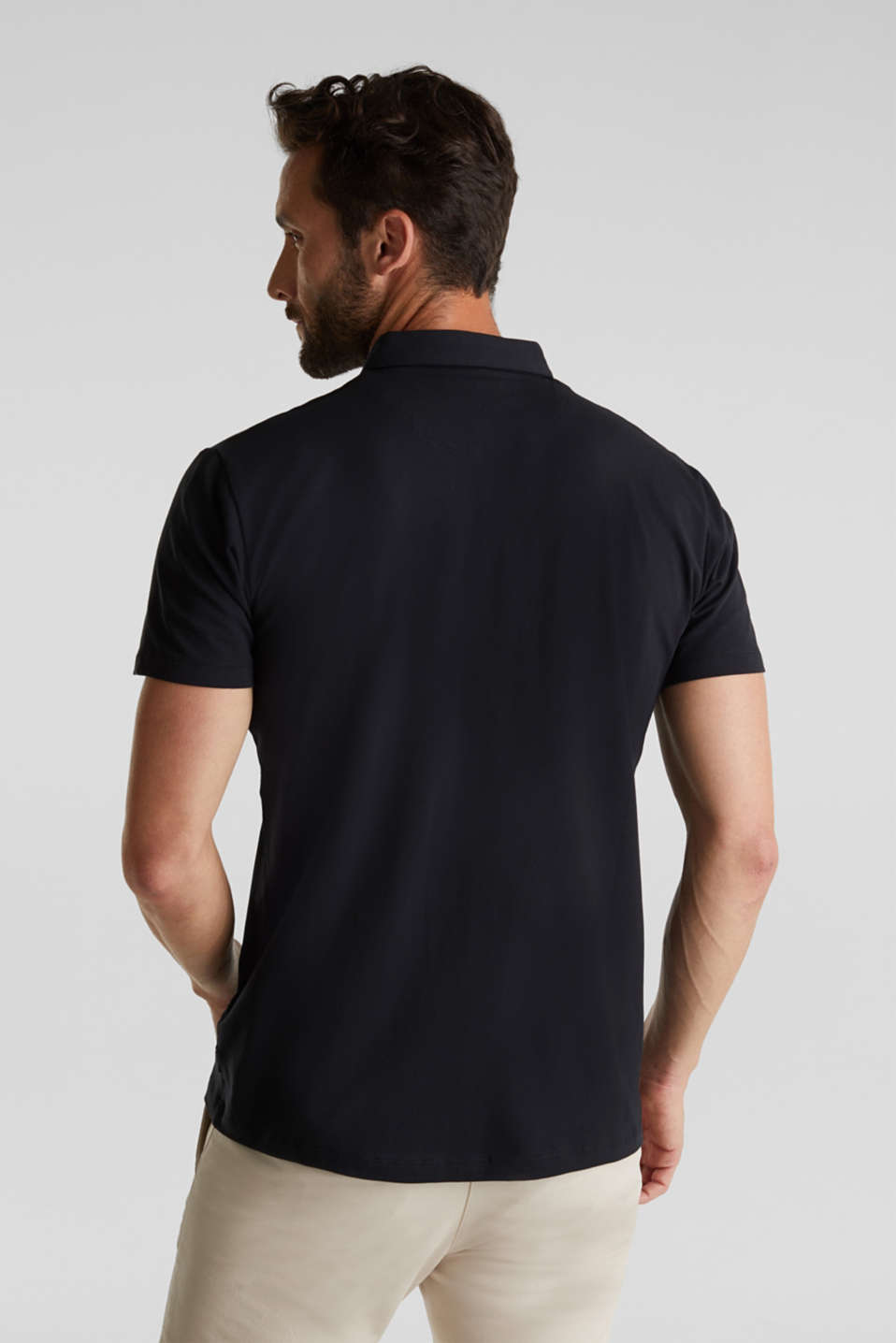 Jersey shirt with organic cotton, BLACK, detail image number 3