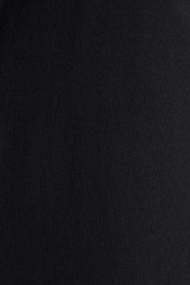 Jersey shirt with organic cotton, BLACK, detail