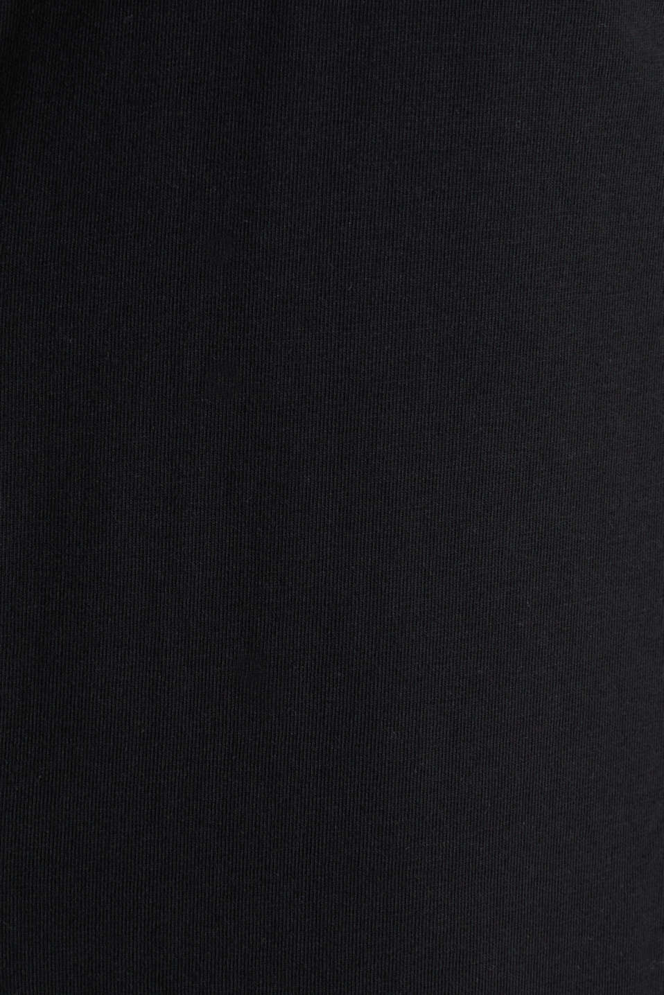 Jersey shirt with organic cotton, BLACK, detail image number 4