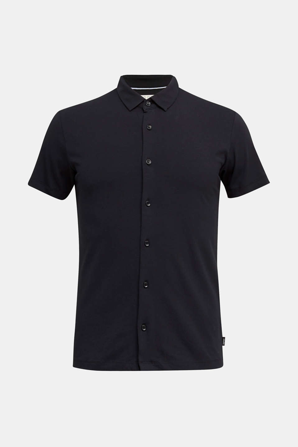 Jersey shirt with organic cotton, BLACK, detail image number 6