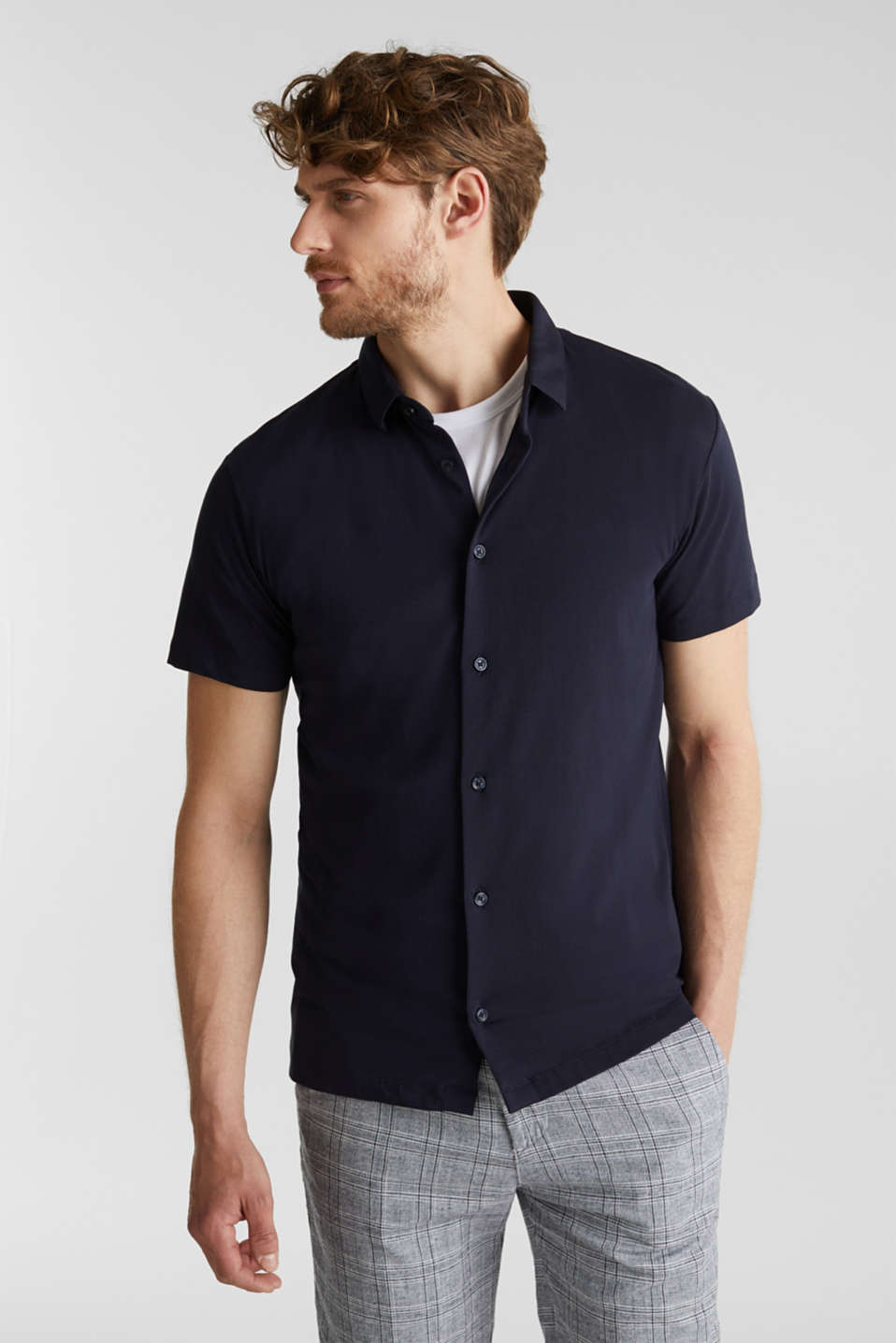 Esprit - Jersey shirt with organic cotton