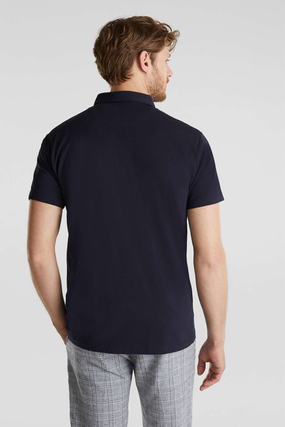 Jersey shirt with organic cotton, NAVY, detail image number 3
