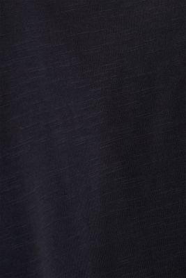 Slub jersey polo shirt, 100% cotton, BLACK, detail