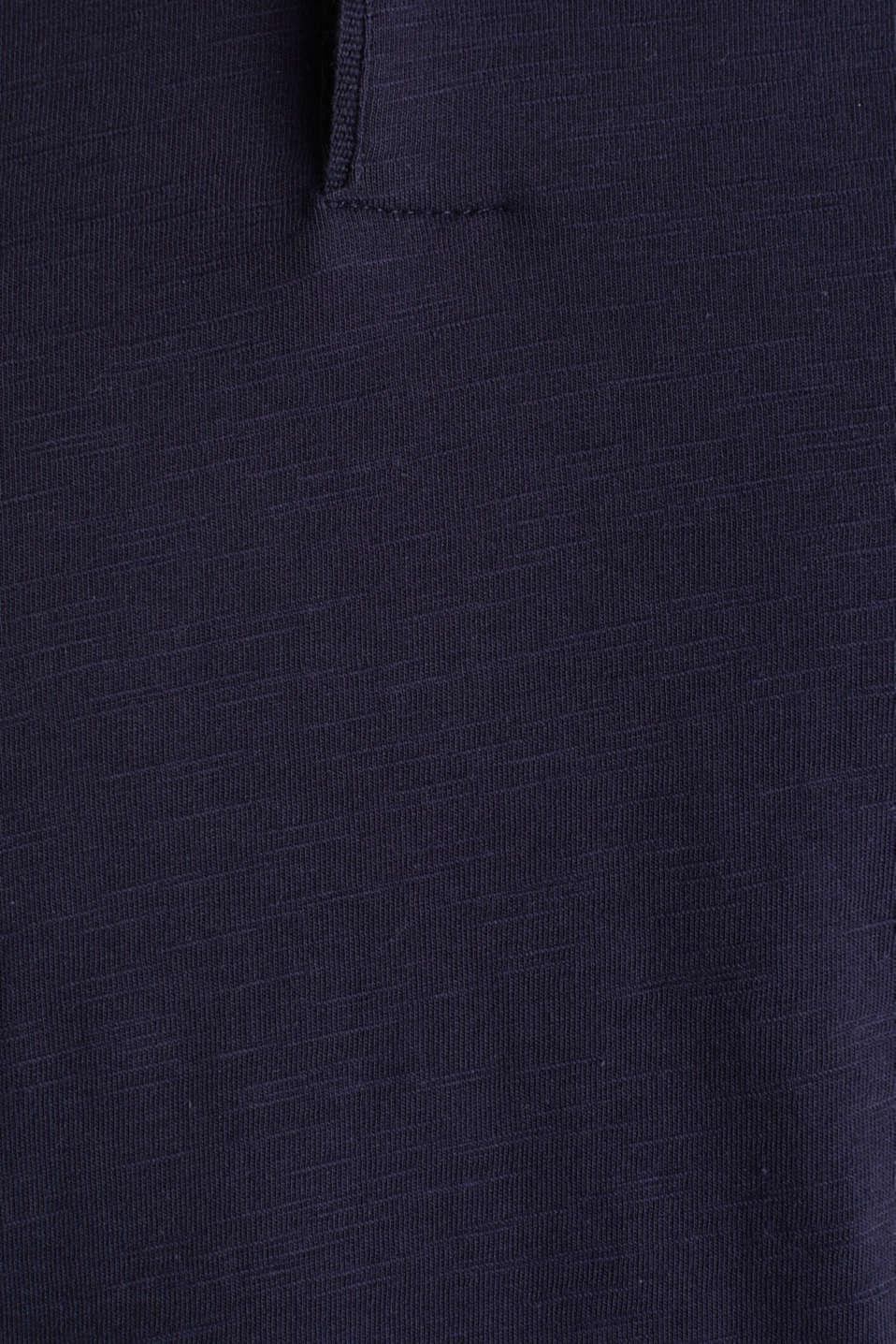 Slub jersey polo shirt, 100% cotton, NAVY, detail image number 4